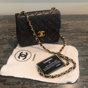 Rare!!!! CHANEL quilted mini flap purse